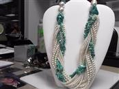 Large Turquoise and Pearl Necklace by Nancy Golden